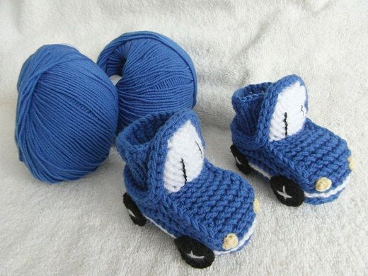 SAVE 10  Blue Cars Baby Booties by Zazaiza on Etsy, $19.35