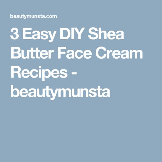 Easy face cream recipes