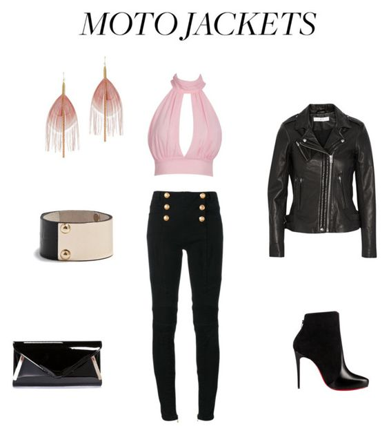 """""""Untitled #104"""" by di-cv on Polyvore featuring Balmain, Christian Louboutin, IRO, GUESS by Marciano, Serefina and Boohoo"""