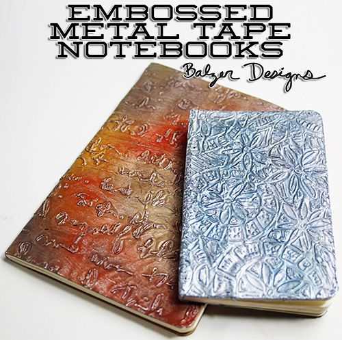 Balzerembossedmetalnotebook Uses Adhesive Backed Foil