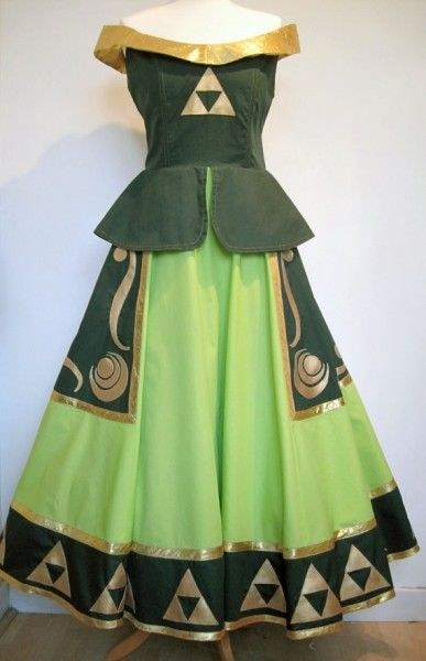 This legend of zelda dress is perfect for a ren faire for Legend of zelda wedding dress