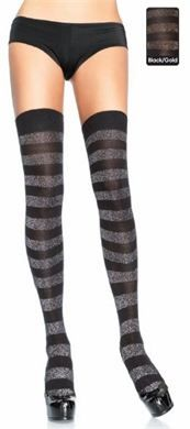 the Cloudy Days thigh highs: available in gold/black only xx
