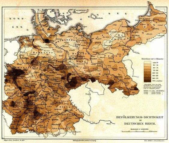 Population Density of Germany 1885: