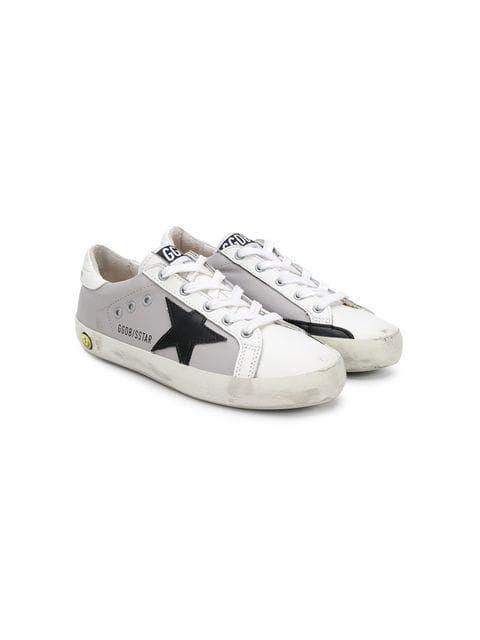 Shop Golden Goose Deluxe Brand Kids Superstar sneakers