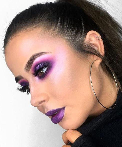 How To Wear All Those Crazy Colored Highlighters Purple Makeup