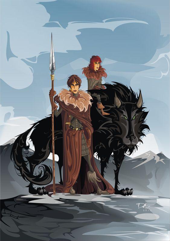 Osha, Rickon and Shaggydog by dejan-delic.deviantart.com on @deviantART