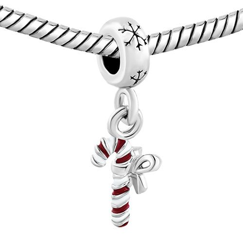 tis christmas time! candy cane pandora charms, holiday winter