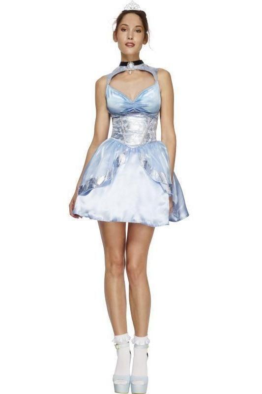 Wonder Princess Costume Bleu Alice Wonderland Femme Ladies Fancy Dress Costume