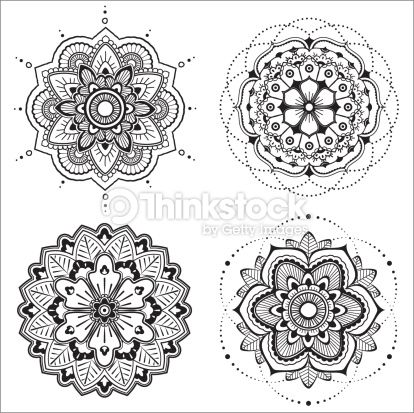 Clipart vectoriel : Mandala set