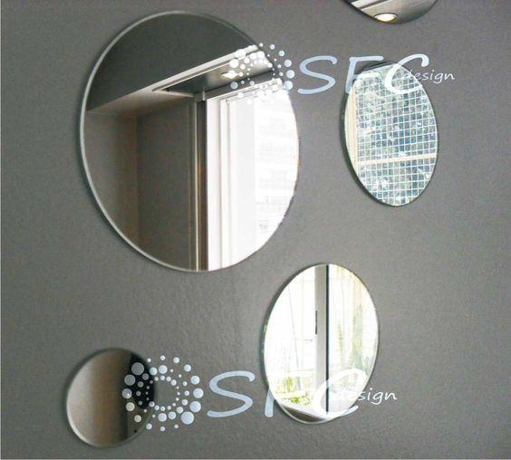 Espejos redondosjuego de vinilo para decorar comedor - Espejos de comedor ...