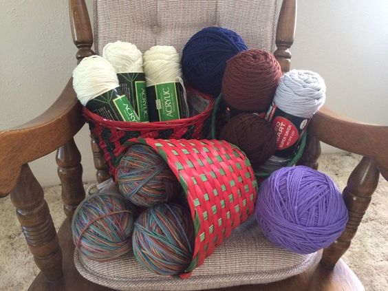Mixed Lot Of Yarn, Multi Colored, 4 Ply, 100% Acrylic, Worsted Weight, 12 Bundle