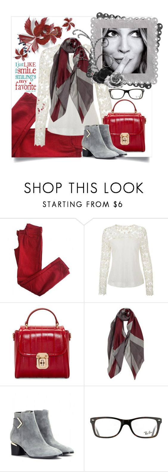 """""""I just like to smile"""" by juliehooper ❤ liked on Polyvore featuring Comptoir Des Cotonniers, Dolce&Gabbana, Nicholas Kirkwood and Ray-Ban"""