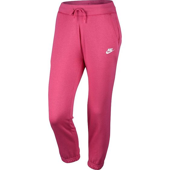 Women's Nike Fleece Capri Jogger Pants, Size: