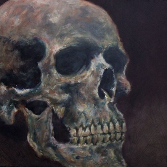 Cropped oil study, 16x20 #oilpainting #skull #skullstudy #makeart #makemoreart #missoula #noseparationstudio