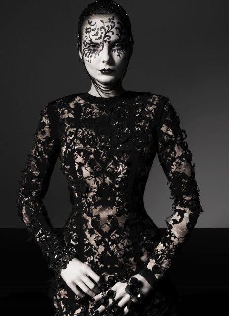 Vogue Italia's October issue and the editorial Vogue Beauty by Greg Lotus.
