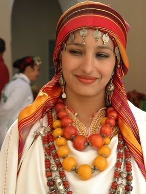 Morocco | Antique Amber and Yemeni Silver Beads