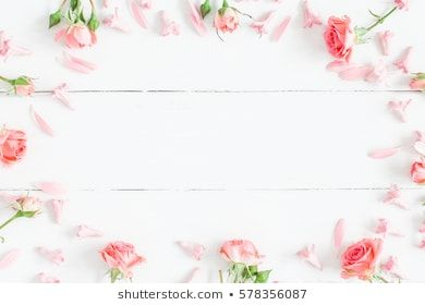 Spring Flowers Pink Flowers On White Wooden Background Flat Lay Top View Copy Space Vintage Flower Backgrounds Spring Flowers Flower Images