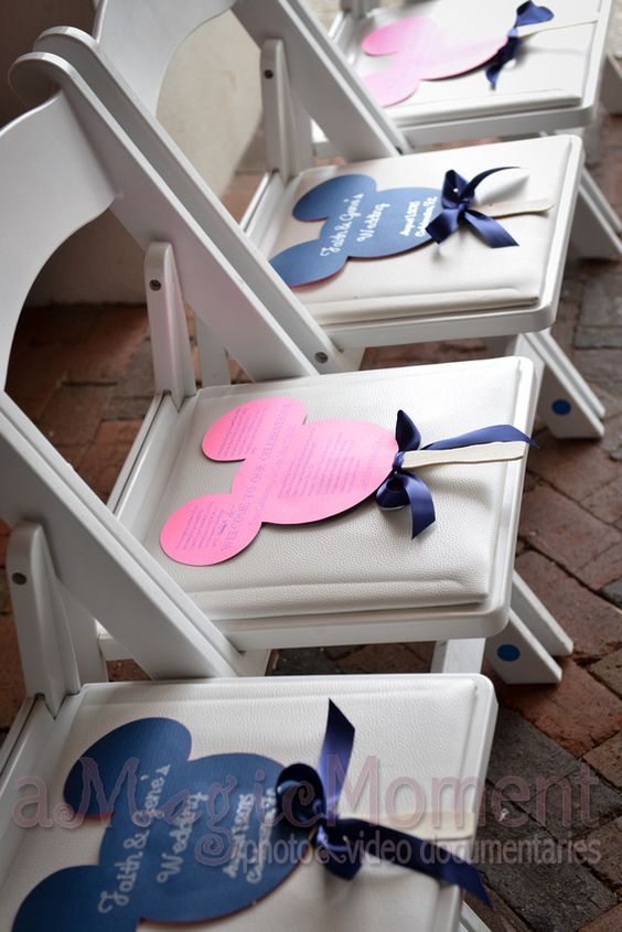 Any Disney lover (or even naysayer) would love these Mickey Mouse shaped programs. How could you not? http://www.amagicmoment.com/blog/2015/10/faith-gene-wedding-bohemian-hotel-celebration