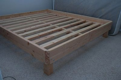 Wooden Bed Frame Perfect for my air mattress Projects to show