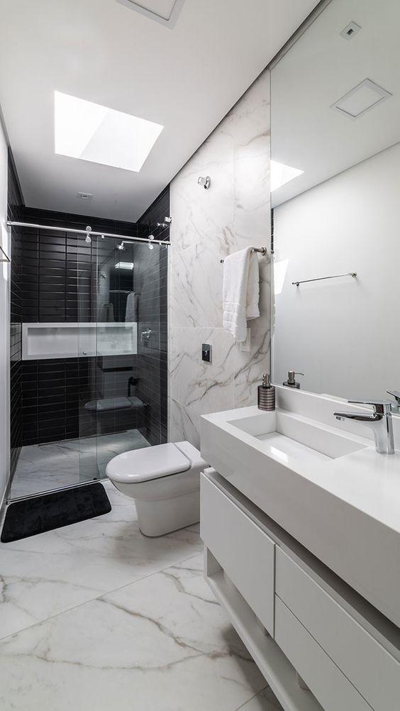 Banheiro com Nicho: +80 Ideias para Decorar seu Cômodo em 2020