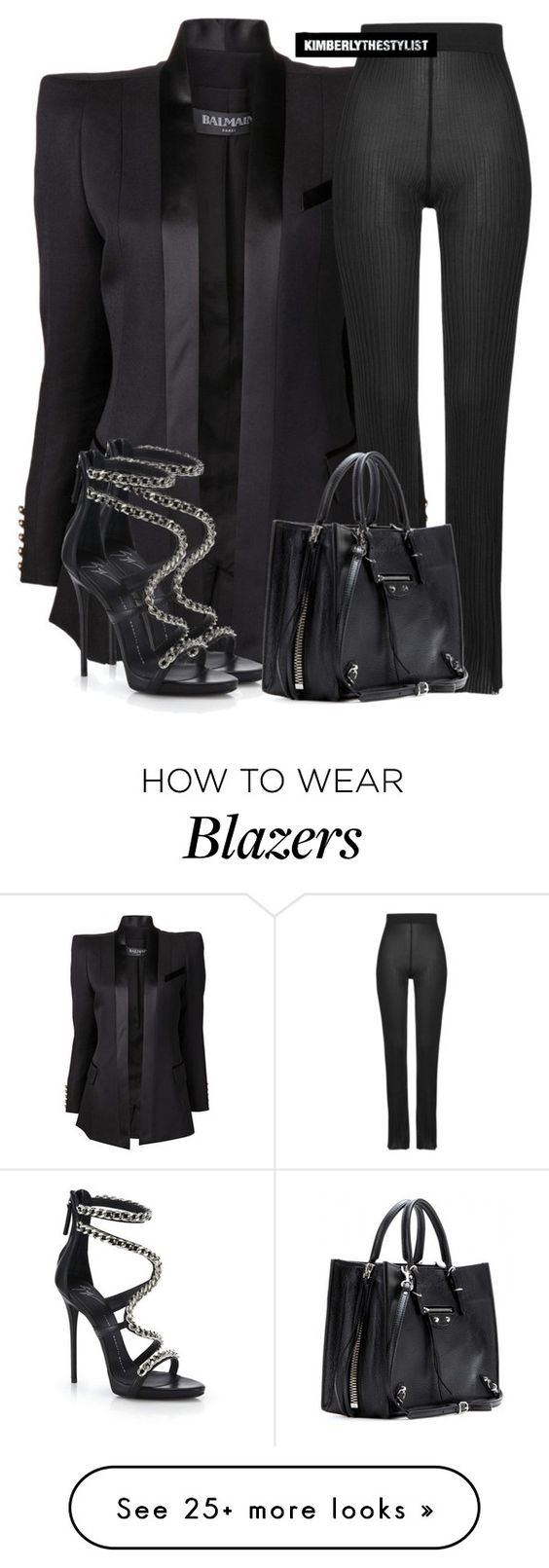 """""""Untitled #2567"""" by whokd on Polyvore featuring Balmain, Giuseppe Zanotti, Balenciaga, women's clothing, women, female, woman, misses and juniors"""