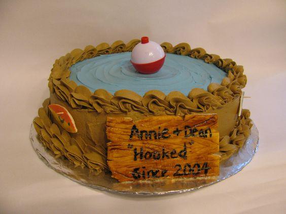 Fishing themed Groom Cake | Hooked - grooms supper Fishing Theme cake. - The Sweet  Sassy Baker