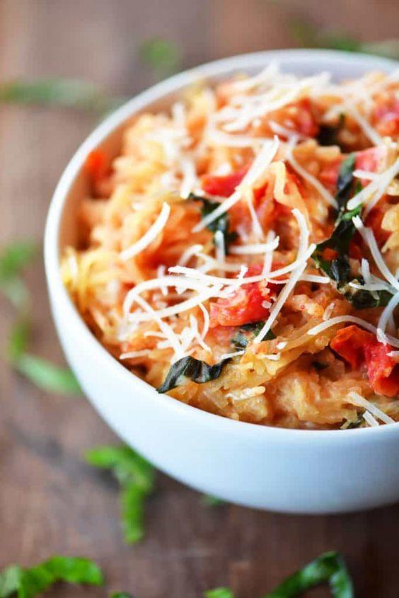 Instant Pot Tomato Basil Spaghetti Squash