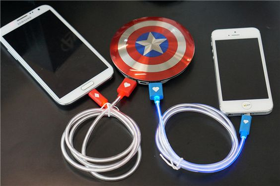 In-Stock - Ships in 24 hours from New York 99% reviewers recommend this product 100% Money Back Guarantee. Charge 2 devices at once with this Captain America 6800mAh Power Bank. Capacity: 6800mAh - We
