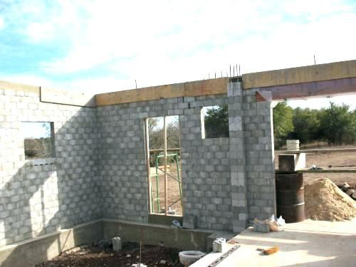 Cinder Block House Cost How To Build A Concrete Block House Nice