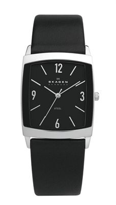 *SK 691LSLB White Label * Skagen *Black *Watch *Time *The most beautiful man watch that I have ever seen