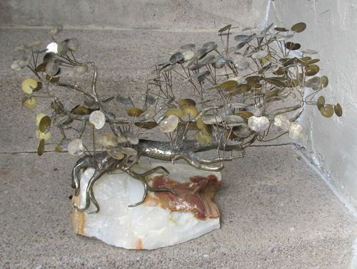 Mid-Century Modern Curtis Jere Bronze / Brass Tree
