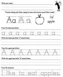Printables A-z Writing Worksheets simple sentences alphabet worksheets and handwriting on worksheet a z free printables