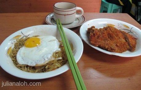 Pork Chop Noodles from Pui Kei  http://www.chowzter.com/fast-feasts/asia-pacific/Macau/review/Pui-Kei/Pork-Chop-Noodles/5337_5384