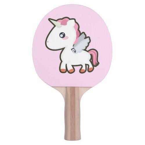 Kawaii Unicorn Ping Pong Paddle Zazzle Com Kawaii Unicorn Ping Pong Paddles Ping Pong