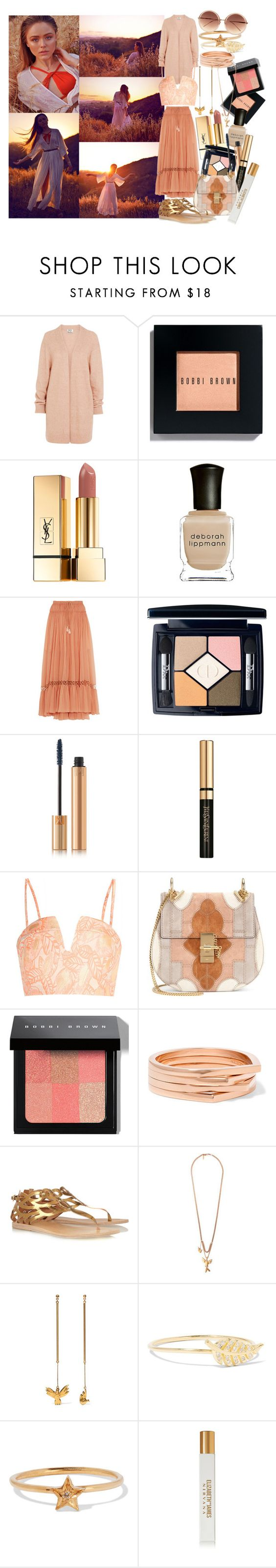 """""""Dusk"""" by brownish ❤ liked on Polyvore featuring Acne Studios, Bobbi Brown Cosmetics, Yves Saint Laurent, Deborah Lippmann, Chloé, Christian Dior, Opening Ceremony, Repossi, Ancient Greek Sandals and Jennifer Meyer Jewelry"""