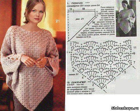 نتيجة بحث الصور عن modele poncho au crochet