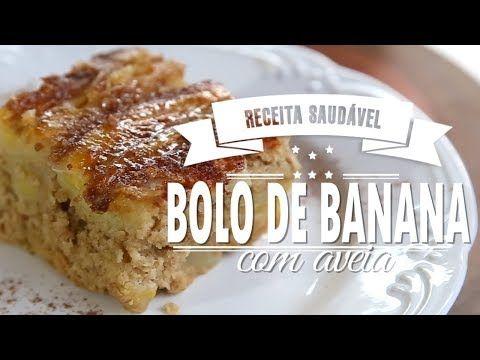 Bolo De Banana Caramelizada Com Aveia De Liquidificador Mamae