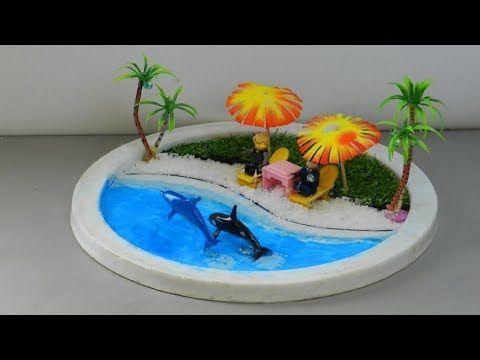 Miniature Beach Zen Garden For Lego Toys Dolphin Beach Resort Diy Diy Waterfall Miniature Diy Miniatures