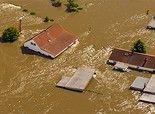 Inondations en Allemagne, 2013 • 360 ° Panorama aérienne