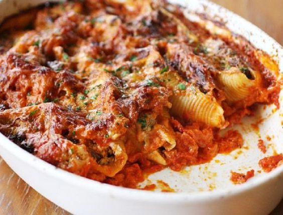 15 Baked Pasta Recipes - I want to try at least the taco shells one, but probably with enchilada sauce instead of marinara.