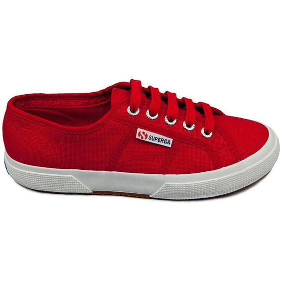 Superga Women's 2750 Cotu Classic (2,155 PHP) ❤ liked on Polyvore featuring shoes, sneakers, maroon red, superga, platform trainers, red shoes, platform shoes and red sneakers