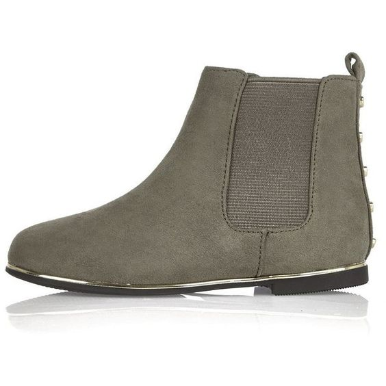Mini girls grey Chelsea boots featuring polyvore | Pregnancy ...