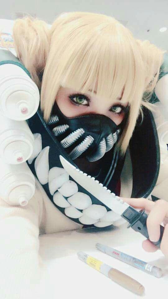 Perruque My Hero Academia Himiko Toga Manga anime Cosplay