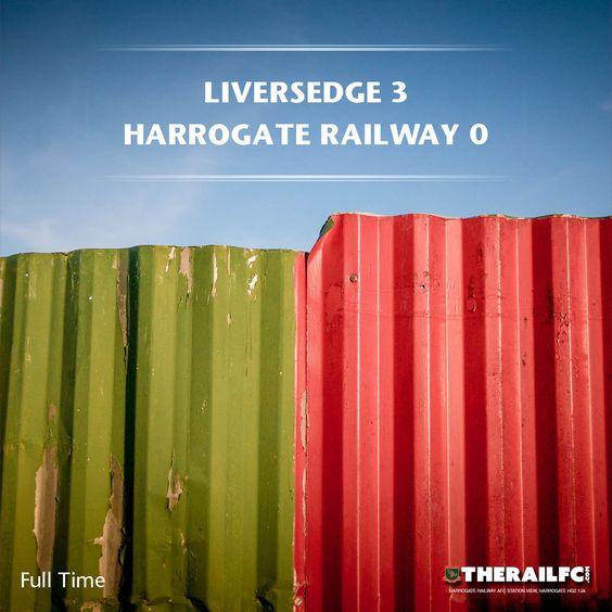 FT: Liversedge 3-0 Harrogate Railway    @therailfc @Liversedge_fc