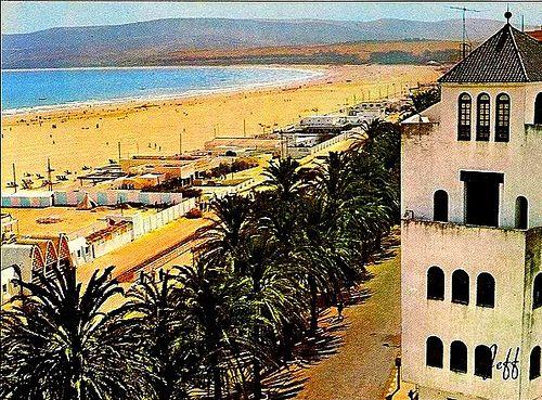 Tangier beach, circa 1950.