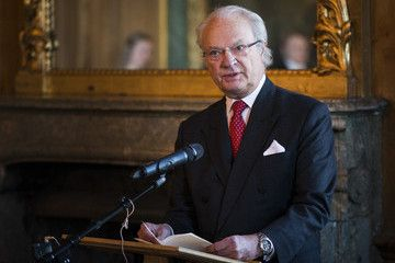 King Carl XVI Gustav of Sweden wearing a Breitling