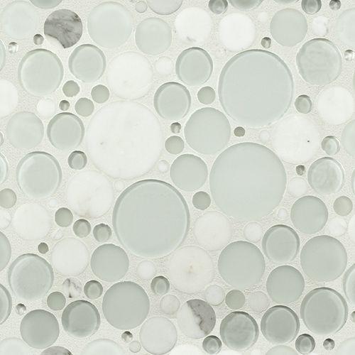 White Effervescence Stone Amp Glass Mosaic Tile Funky Yet