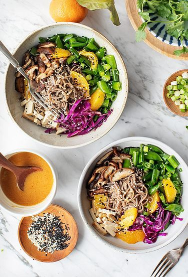 Sesame Orange Noodle Bowls