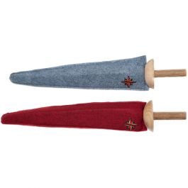 Soft foam sword, covered with wool felt. Natural wooden handle. Made in USA. From www.bellalunatoys.com