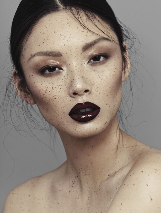 'Speckled' - model: Alice Ma - photographer: Alex Evans - hair & make-up: Natalie Ventola - Chloe Magazine Spring14 M.A.C. Satin Lipstick in Mocha (lips)